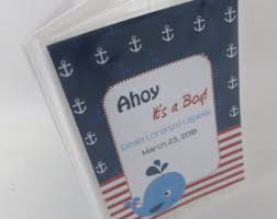 year 2 anniversary giftahoy its a boy anchor photo album etsy