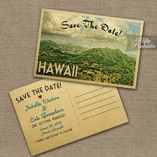 Postcard Save The Dates This Diy Vintage Travel Save The Date Postcard Features Hawaii In