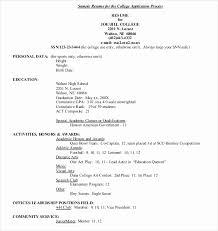 graduate resume college application resume exles college resumes