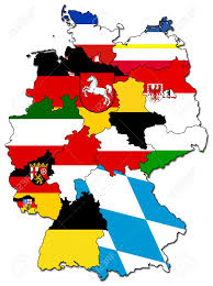 German States Map by Old Administration Map Of German Provinces States Stock Photo
