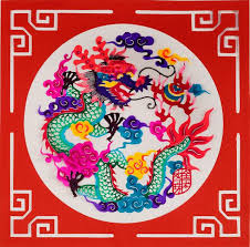 New Year Decoration Craft by Chinese Papercut Posters Dragon Arts U0026 Crafts Chinese New