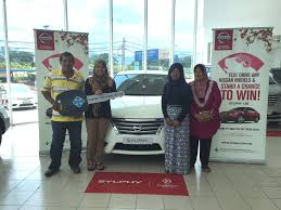 edaran tan chong motor launches etcm presents nissan sylphy to lucky winner of cny contest