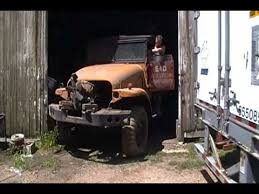 Barn Find Videos Amazing Barn Find 1951 Army Truck After 30 Years In Storage