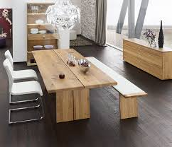 Modern Oak Dining Tables Solid Wood Dining Table In The Dining Room