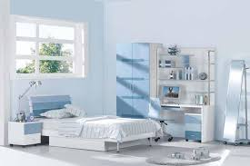 beautiful teenage bedroom with soft blue color get enjoy with