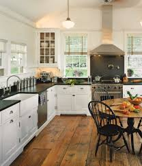 white kitchen cabinets wood floors white kitchens for vintage homes house journal magazine