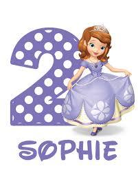 princess sofia birthday iron transfer decal