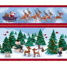 rudolph the nosed reindeer quilt fabric by quilting treasures