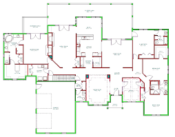 decor remarkable ranch house plans with walkout basement for home