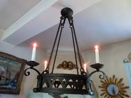 Home Decor Light by Antique 1800s French Iron Chandelier Lighting Fixture Ceiling