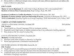 Esl Teacher Cover Letter Sample Aix Administration Cover Letter
