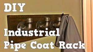 industrial pipe coat rack easy diy youtube