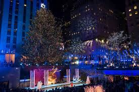 Where Is The Christmas Tree In New York City Rockefeller Christmas Tree Lighting Attracts Thousands Boston Herald