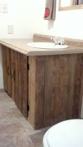 Wooden Bathroom Vanities by I Made This Bathroom Vanity Made From Pallet Wood Bathroom