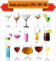 alcohol vector alcohol and cocktails beer vodka rum blender recipes silhouette