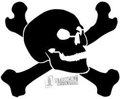 skull and crossbones stencils stencils skull and crossbones and