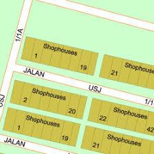 map usj 1 map of jalan usj 1 1