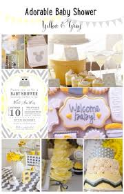 yellow baby shower ideas baby shower ideas yellow gray