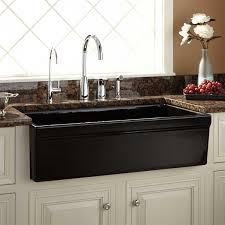sinks copper tile in sink farmhouse sink black kitchen faucet