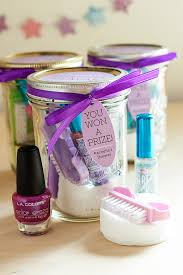 bridal shower prizes pedicure in a jar gift favor ideas from evermine