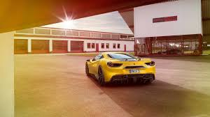 ferrari 488 gtb novitec n largo 4k wallpapers yellow ferrari wallpaper on wallpaperget com