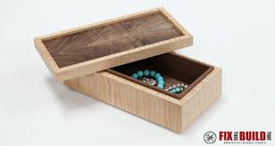 Simple Wood Plans Free by How To Make A Simple Wooden Jewelry Box Fixthisbuildthat