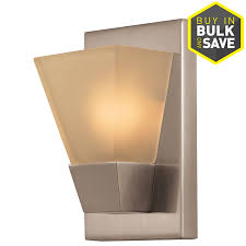 Portfolio Wall Sconce Shop Portfolio 5 52 In W 1 Light Brushed Nickel Pocket Wall Sconce