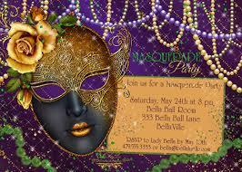 mardi gras masquerade masquerade party invitation mardi gras party party