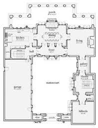plan 33160zr net zero ready courtyard house plan courtyard