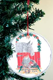 vintage coasters turned glitter ornaments make and takes
