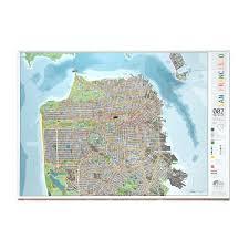 Map Usa San Francisco by San Francisco Map Paper 45 Big With San Francisco Map Paper Maps