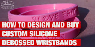design silicone bracelet images How to design and buy custom silicone debossed wristbands jpg