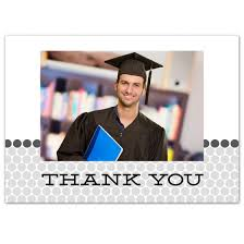graduation thank you cards polka dot 3 5x5 graduation thank you card