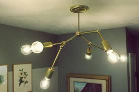 Light Bulb Chandelier Diy Diy Brass Chandelier
