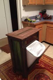 kitchen island trash bin how to build a trash bin with a butcher block countertop diy