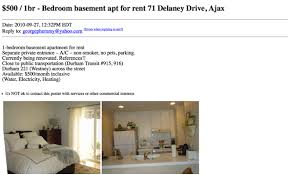One Bedroom Apartment Toronto For Rent What 500 Or Less Gets You For An Apartment Rental On Craigslist