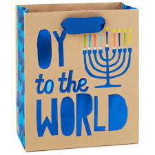 winnie the pooh menorah oy to the world menorah small hanukkah gift bag 6 5 gift bags