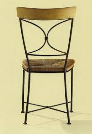 chaises fer forg chaise fer forgé deba assise paillée ou tissu alki