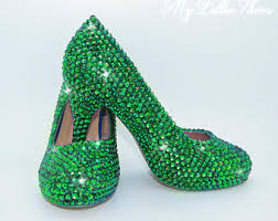 wedding shoes green green wedding shoes etsy
