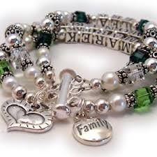 family bracelets birthstone family bracelet or necklace semi precious or
