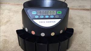 coin counting machine coin counter and sorter youtube