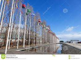 Flags Of All Nations Flags Of All The Countries Of The World Waving In The Wind At The