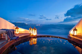 hotel with infinity pool in every room infinity pool santorini