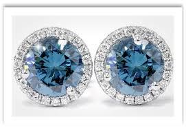 blue diamond stud earrings blue diamond earrings refinement with style