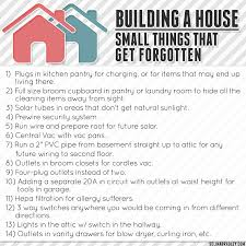 building a house small things that get forgotten house on a