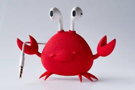 crab apple earpods holder meshfusion 3d print foundry community