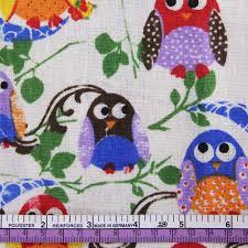 online shop 50 150cm owl bird butterfly patchwork printed linen