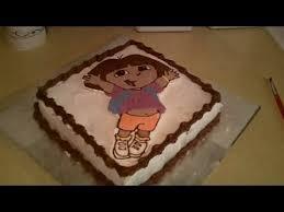 how to make dora the explorer birthday cake youtube