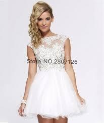 white 2017 ball gown wedding dresses mini short lace princess