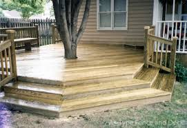 Corner Deck Stairs Design Beautiful Decks Your Design Or Ours